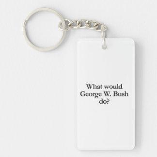 what would george w bush do acrylic key chain
