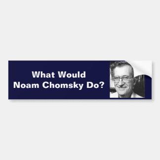 What Would Noam Chomsky Do? Bumper Sticker