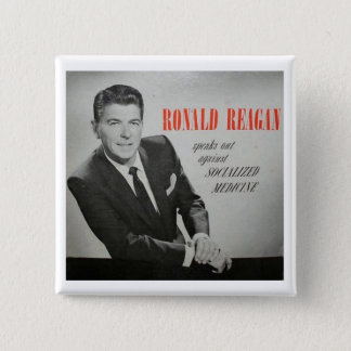 What would Reagan do? 2 Inch Square Button