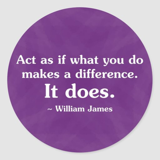 What you do can make a difference 2 stickers