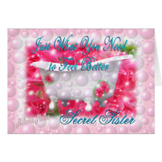 What you need Secret Sister-customize Card