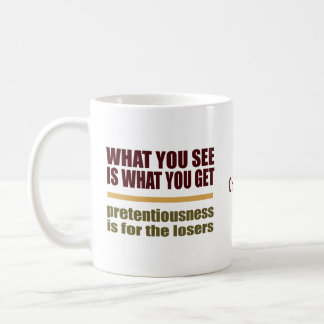 What You See Is What You Get custom name mugs