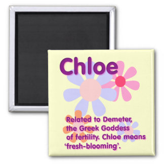 What Your Name Means: Chloe Square Magnet