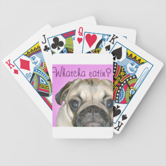 Whatcha Eatin 2 Pug Bicycle Playing Cards