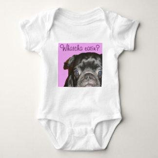 Whatcha Eatin Pug Baby Bodysuit