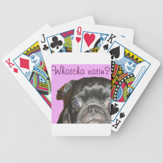 Whatcha Eatin Pug Bicycle Playing Cards