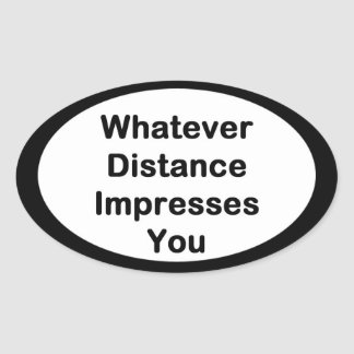 Whatever Distance Running Sticker