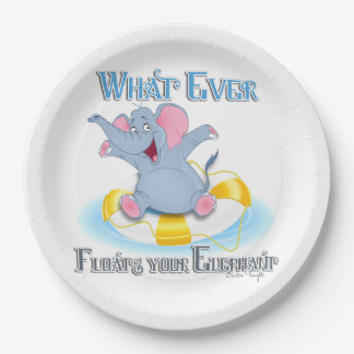 Whatever Floats your Elephant 9 Inch Paper Plate