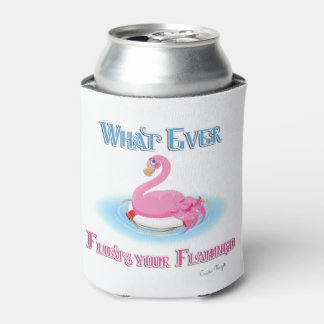 Whatever Floats Your Flamingo 2 Can Cooler