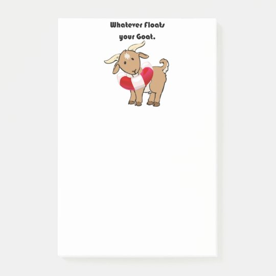 Whatever Floats your Goat Life Preserver Cartoon Post-it Notes