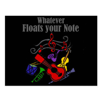 Whatever Floats your Note Design Postcard