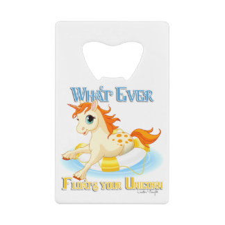Whatever Floats Your Unicorn Wallet Bottle Opener