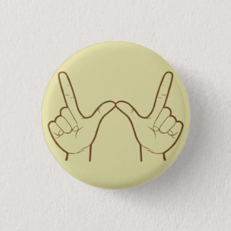 Whatever Hand Sign Retro Flair 1 Inch Round Button