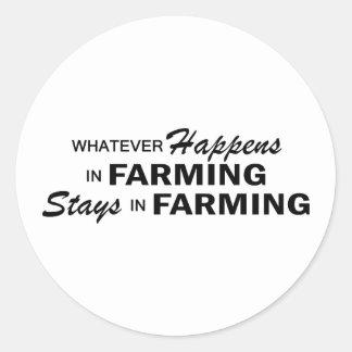 Whatever Happens - Farming Classic Round Sticker