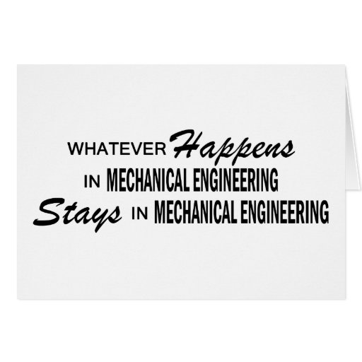 Whatever Happens - Mechanical Engineering Cards