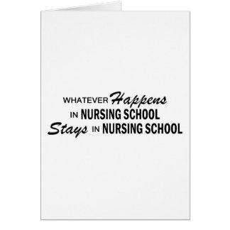 Whatever Happens - Nursing School Card
