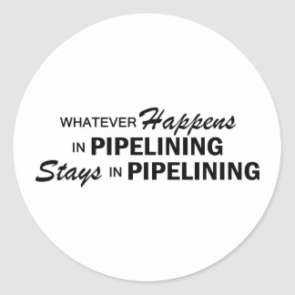 Whatever Happens - Pipelining Classic Round Sticker