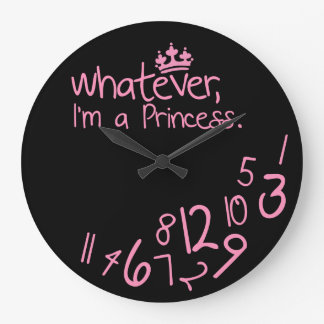 Whatever, I'm a Princess Wall Clock