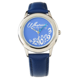 whatever, I'm late anyway - blue Wrist Watches
