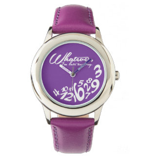whatever, I'm late anyway - dark orchid purple Wrist Watch
