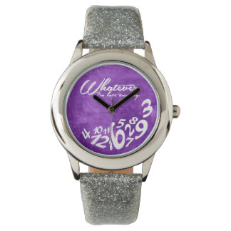 Whatever, I'm late anyway - rustic purple Wrist Watches