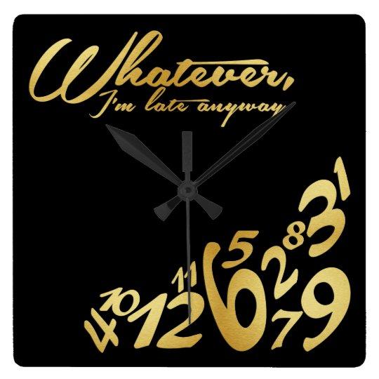Whatever, I'm late anyways - black & gold Wallclocks