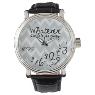 Whatever, I'm late anyways - eatlovepray logo Watch