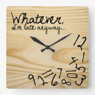 whatever, I'm late anyways. Faux Wood Background Clocks
