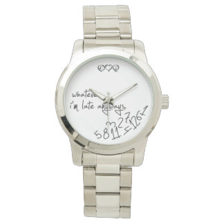 whatever, I'm late anyways - modern black & white Wristwatches