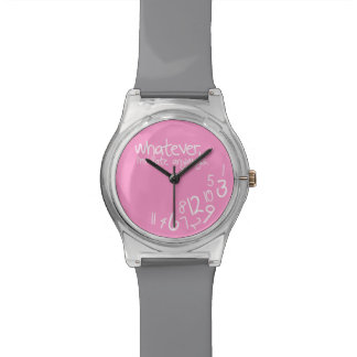 Whatever, I'm late anyways - Pink and Gray Watches
