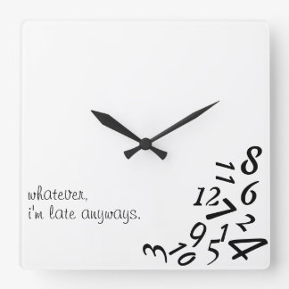 ~Whatever, I'm Late Anyways~ WALL CLOCK, CUSTOMIZE Wall Clock