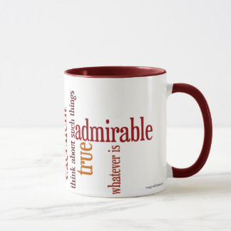 """Whatever Is"" Mug: Philippians 4:8 Mug"