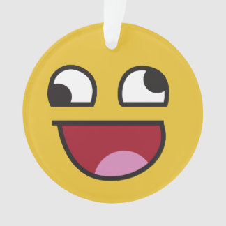 whatever. laughing emoji ornament