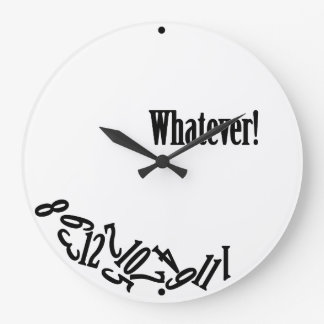 Whatever - Scattered Numbers Large Clock
