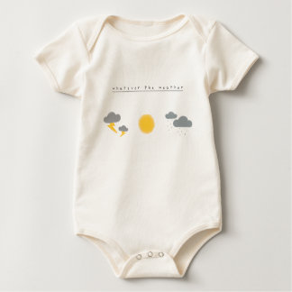 Whatever the weather watercolour print baby bodysuit