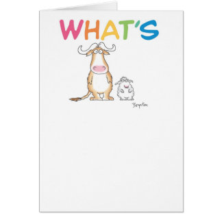 WHAT'S GNU WITH EWE? CARD