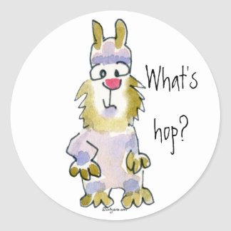 What's hop? Cartoon Rabbit Sticker