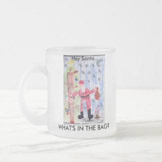 WHAT'S IN THE BAG? FROSTED GLASS COFFEE MUG