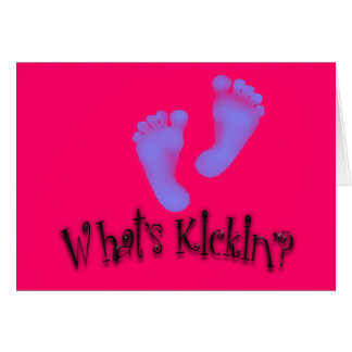 What's Kickin'? Maternity Cards