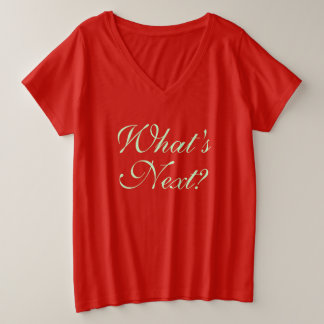 What's Next? Plus Size V-Neck T-Shirt