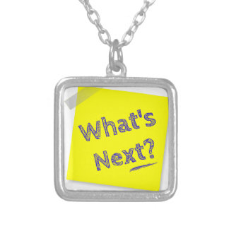 What's next? silver plated necklace