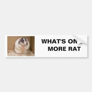 what's one more rat bumper sticker