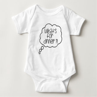What's or dinner? Fun quote Baby Jersey Bodysuit