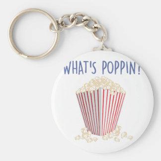 Whats Poppin Basic Round Button Keychain