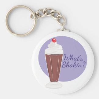 Whats Shakin Basic Round Button Keychain