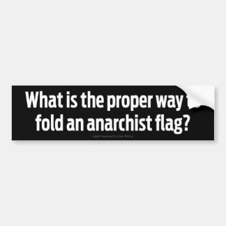 What's the Proper Way To Fold An Anarchist Flag? Bumper Sticker