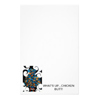 What's Up...Chicken Butt! Customized Stationery