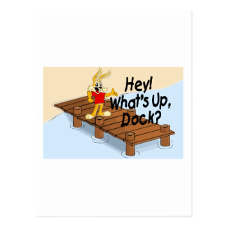 What's Up Dock Postcard