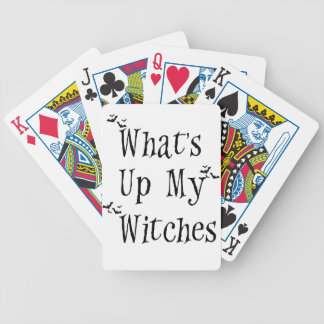 WHAT's Up My Witches Bicycle Playing Cards