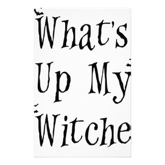 WHAT's Up My Witches Stationery